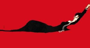Gruau lady lying